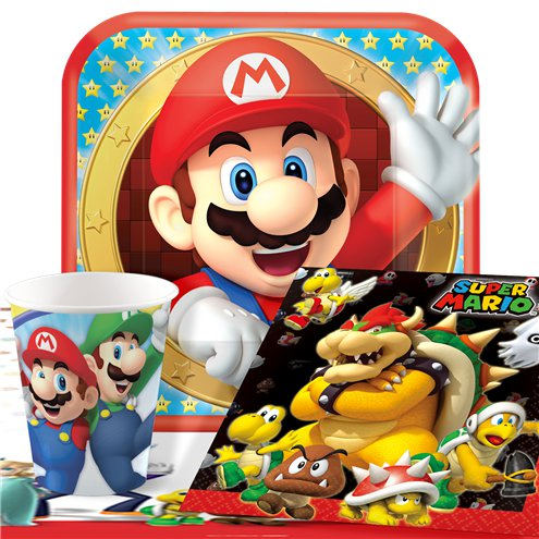 nintendo themed party supplies